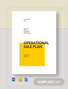 Operational Sales Plan Template