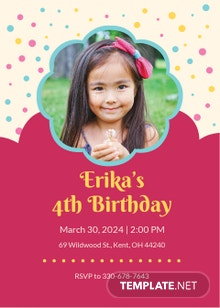 Free Simple Kid's Birthday Invitation Template