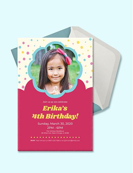 Free Simple Kid's Birthday Invitation Template