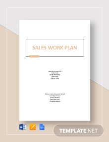 Sales Work Plan Template