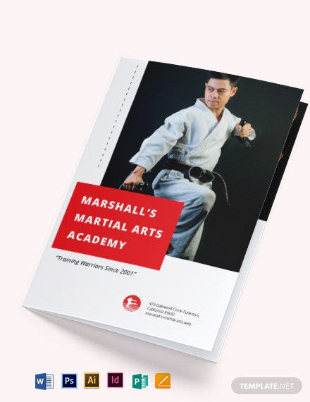 Martial Arts School BiFold Brochure Template