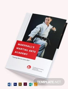 Martial Arts School Bi-Fold Brochure Template