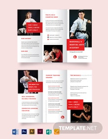 Martial Arts School Tri-Fold Brochure Template