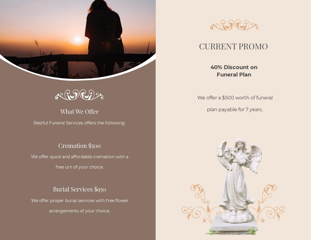 Printable Burial Funeral Bi Fold Brochure Template 1.jpe