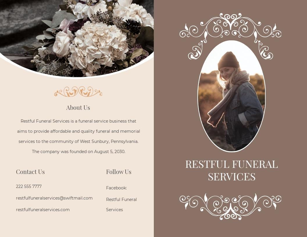 Printable Burial Funeral Bi Fold Brochure Template.jpe