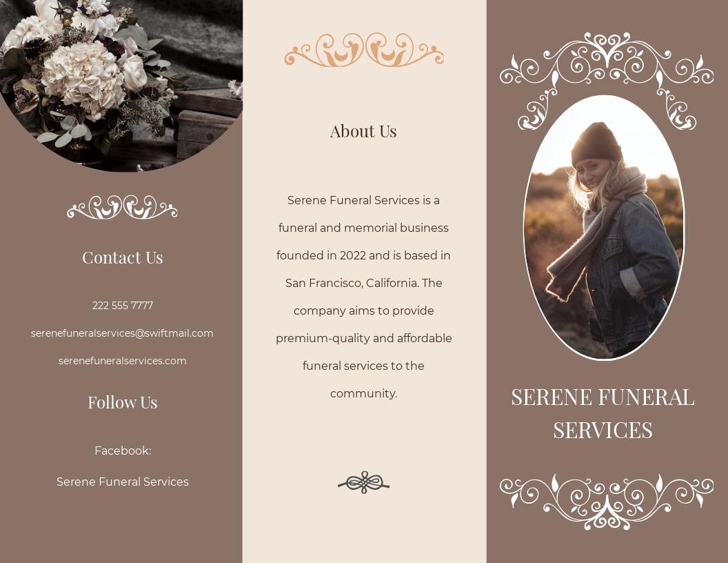 Printable Burial Funeral Tri Fold Brochure Template.jpe