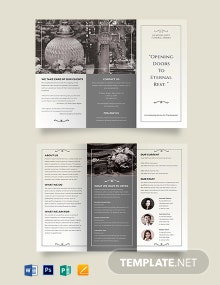 Printable Funeral Plan Tri-Fold Brochure Template