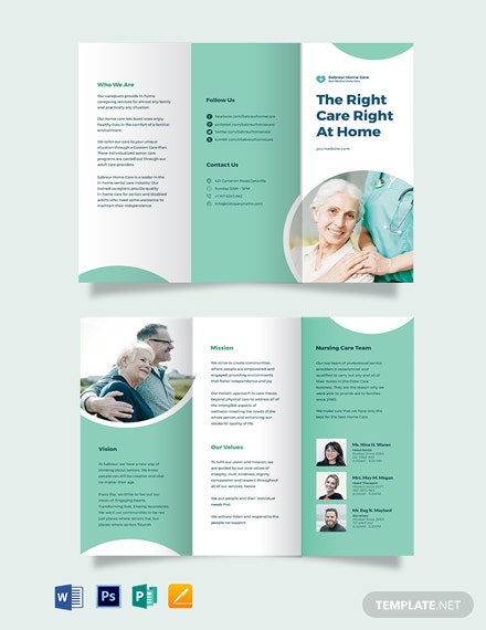 Printable Home Care Tri-Fold Brochure Template