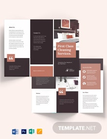 Professional Cleaning Service Tri-Fold Brochure Template