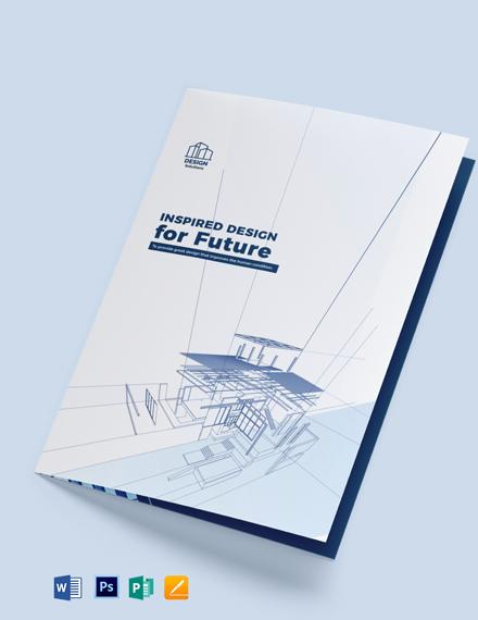 Professional Company Profile Bi-Fold Brochure Template