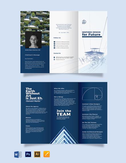 Professional Company Profile Tri-Fold Brochure Template