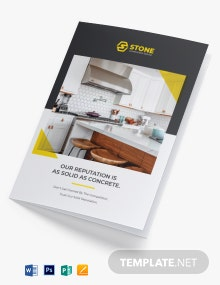 Residential Construction Bi-Fold Brochure Template