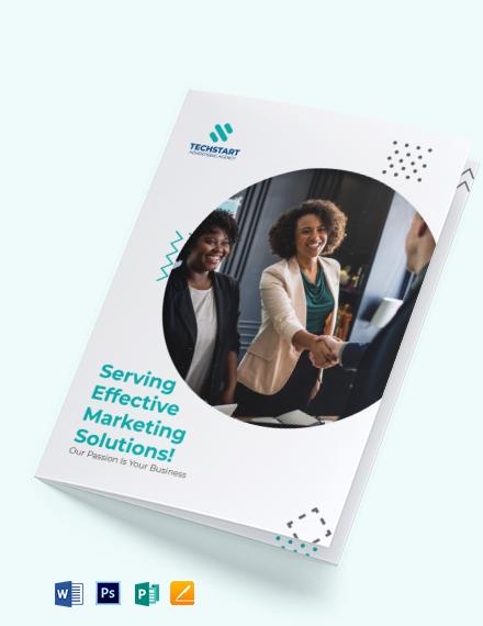 Small Business Advertising Bi-Fold Brochure Template