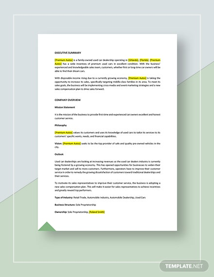 Sample Sales Compensation Plan Download