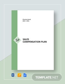 Sample Sales Compensation Plan Template