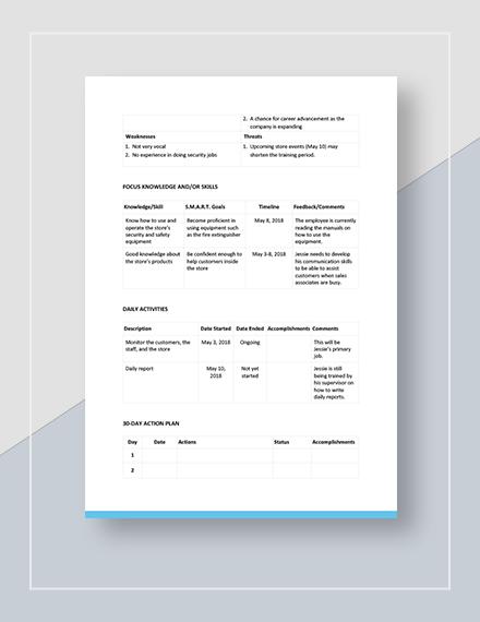Simple Development Plan Download