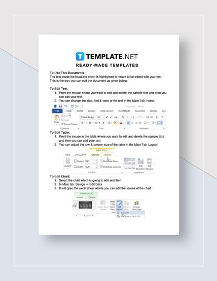 Work Plan Format Instructions