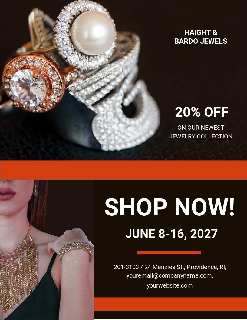 Jewelry Sale Flyer Template.jpe