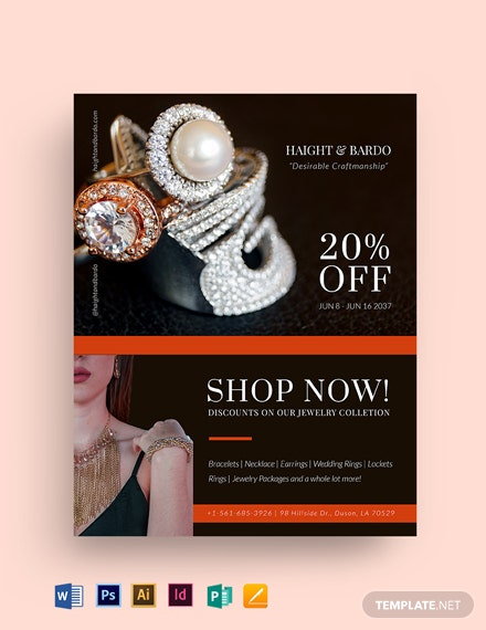 Jewelry Sale Flyer Template