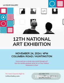Art Show Exhibition Flyer Template