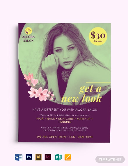 Salon Promotional Flyer Template