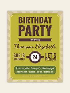 Retro Birthday Flyer Template