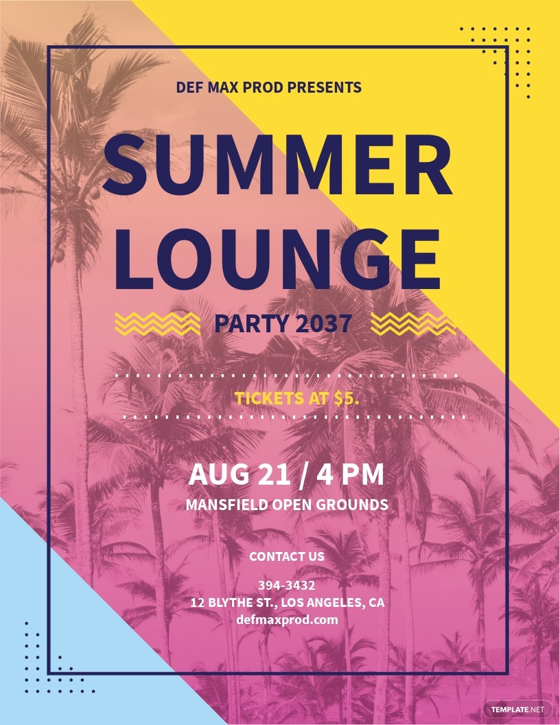 Summer Lounge Party Flyer Template