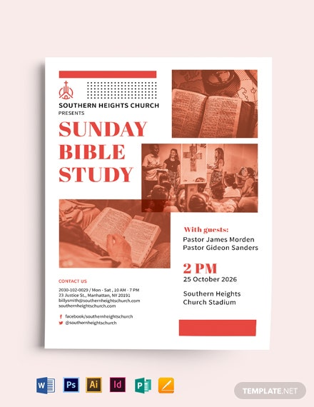 Sunday Church Event Flyer Template