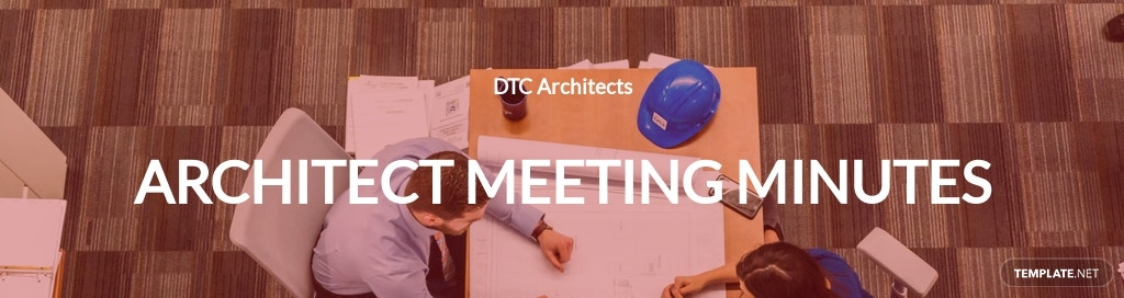 Architect Meeting Minutes Template
