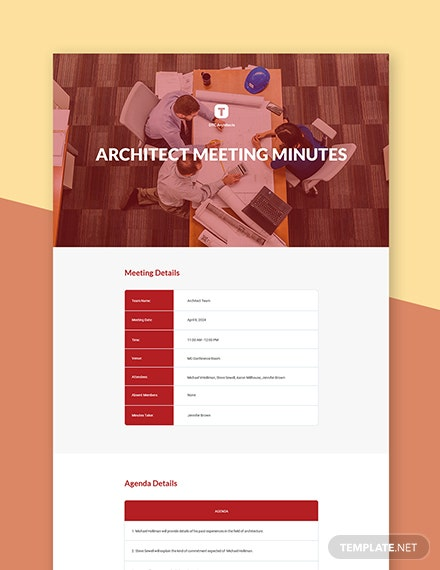 Free Architect Meeting Minutes Template