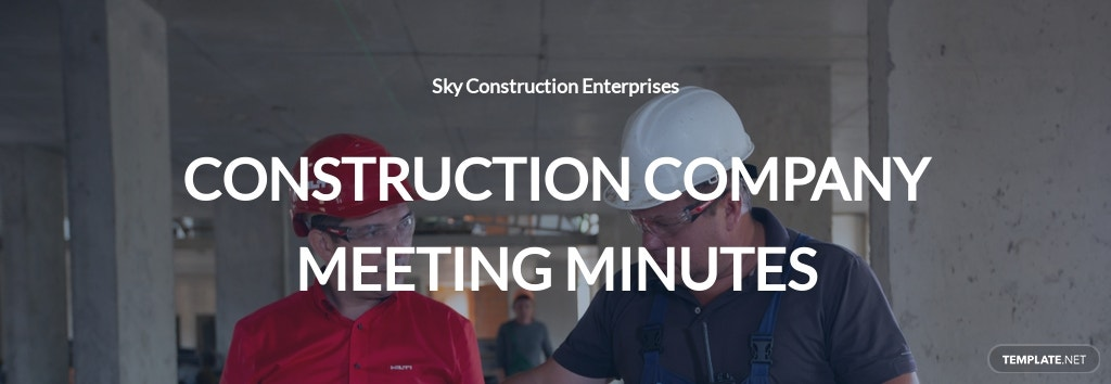 Construction Company Meeting Minutes Template