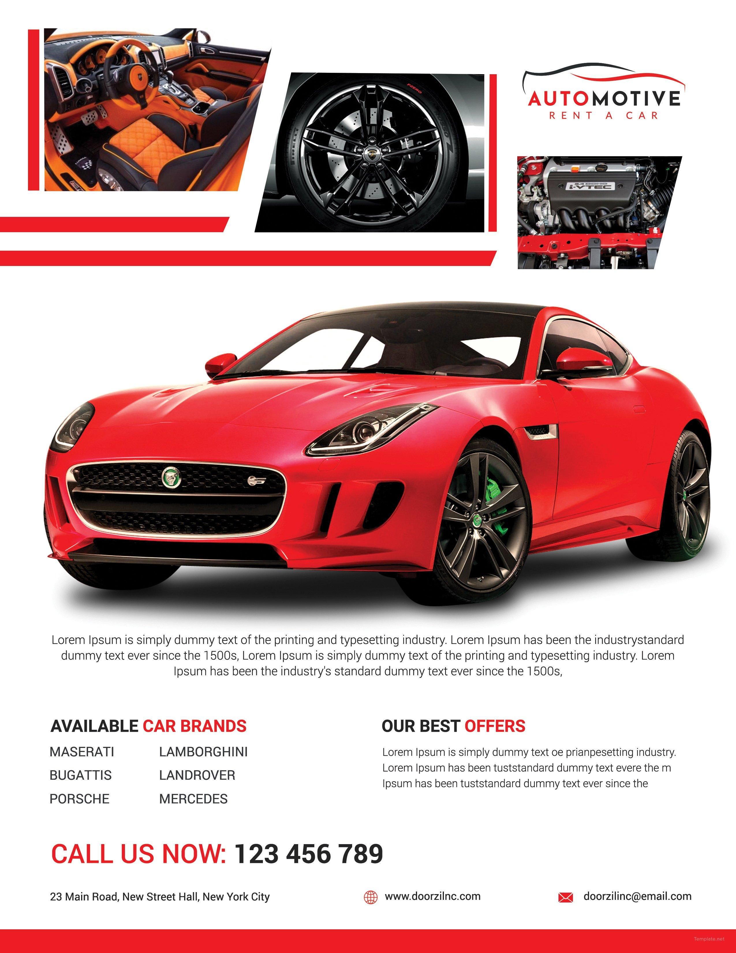 Car Sales Flyer Template In Adobe Photoshop, Illustrator | Template.net