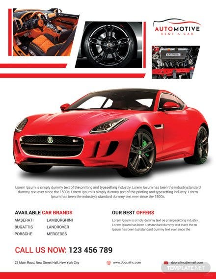 Car Sales Flyer Template