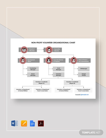 Free Non-profit Volunteer Organizational Chart Template