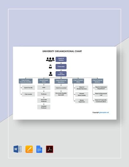 Free University Organizational Chart Template