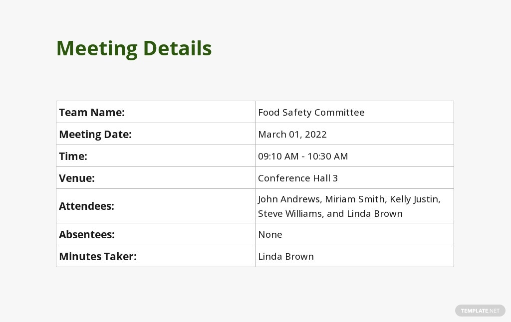 Free Food Safety Meeting Minutes Template 1.jpe
