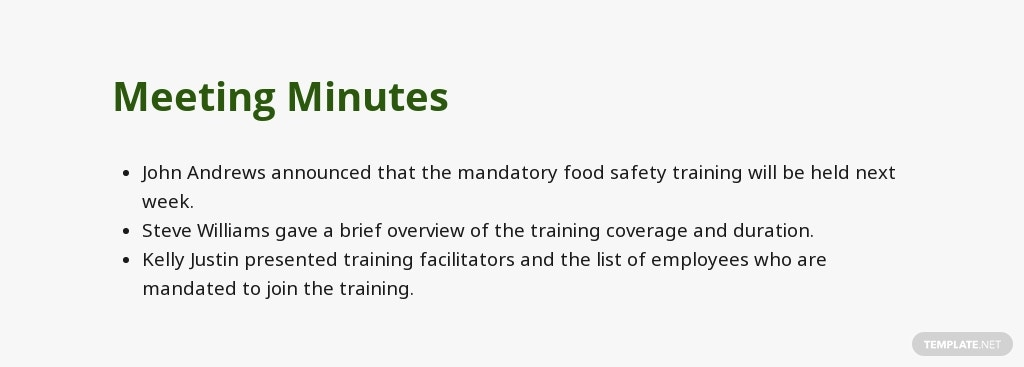Free Food Safety Meeting Minutes Template 3.jpe