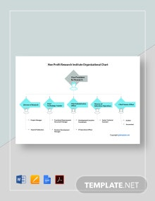 Free Non Profit Research Institute Organizational Chart Template