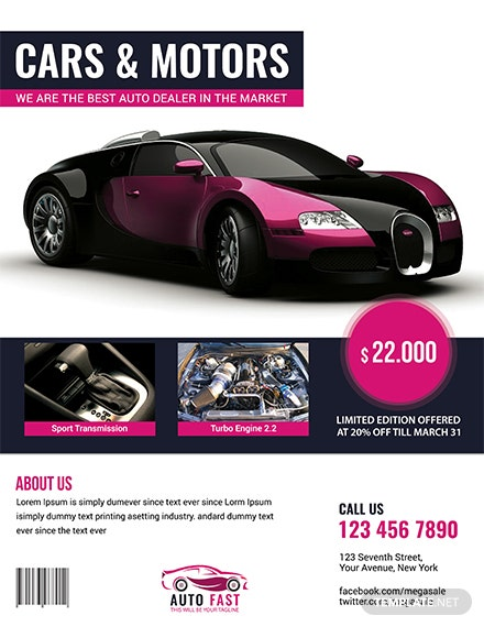 Free Auto Sales Flyer Template