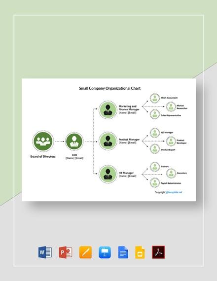 Free Small Company Organizational Chart Template