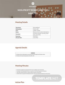Free Nonprofit Board Meeting Minutes Template
