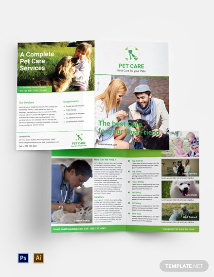Free Pet Care Bifold Brochure