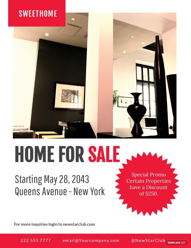 Free Home Sale Flyer Template.jpe