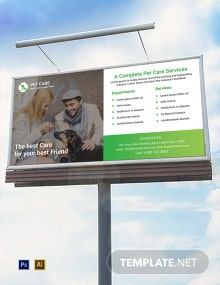 Free Pet Care Billboard Template