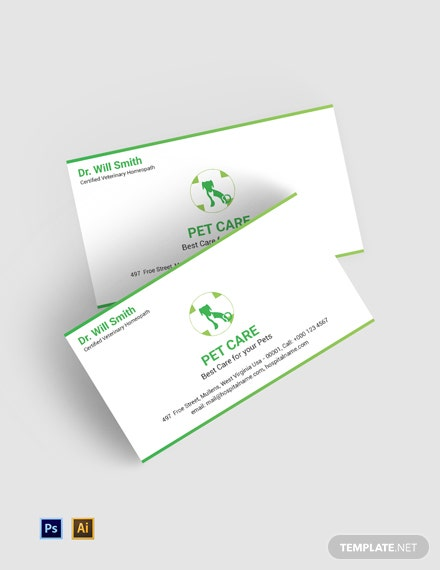 Free Pet Care Business Card