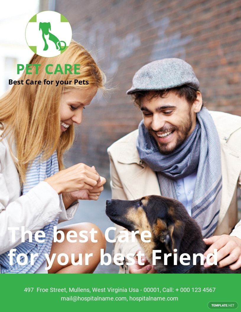 Free Pet Care eBook Cover Page Template.jpe