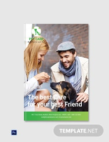 Free Pet Care eBook Cover Page Template