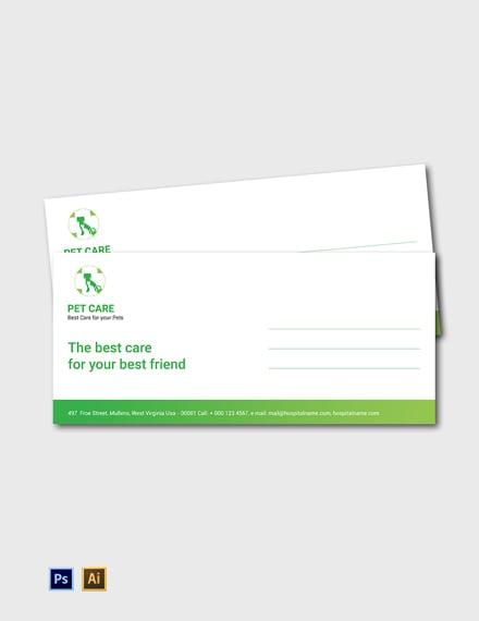 Free Pet Care Envelope Template