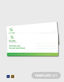 Free Pet Care Envelope Template