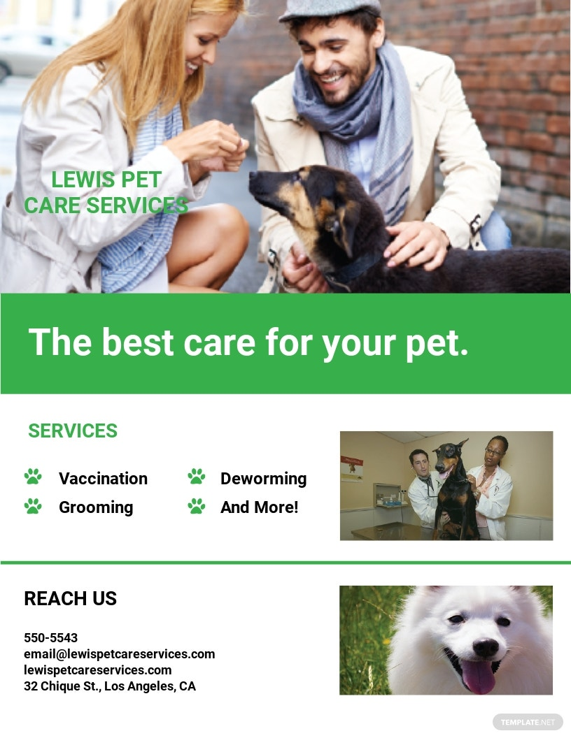 Pet Care Services Flyer Template